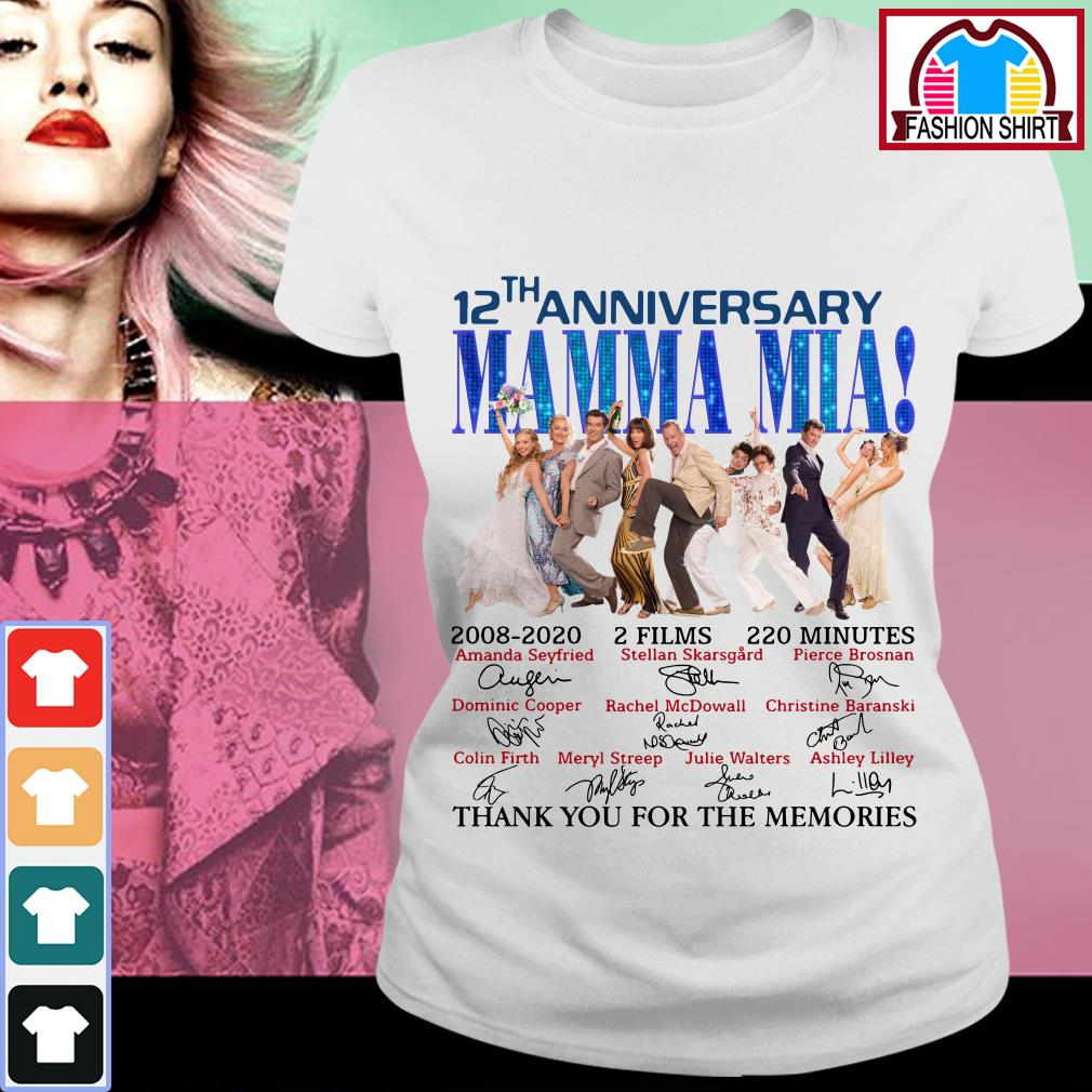 Official 12th anniversary Mamma Mia thank you for the memories shirt by tshirtat store Ladies Tee