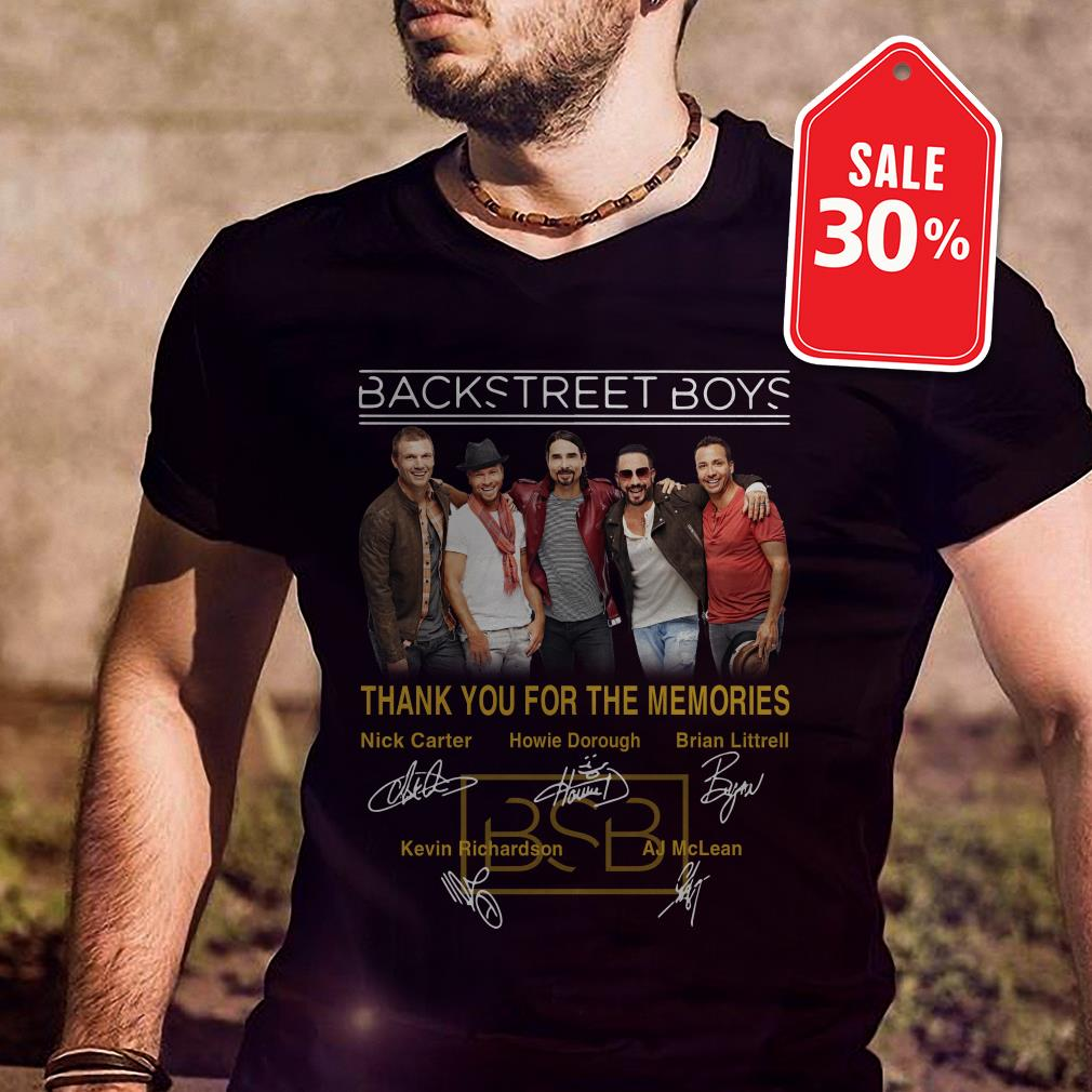Official Backstreet Boys thank you for the memories signatures shirt by tshirtat store Shirt