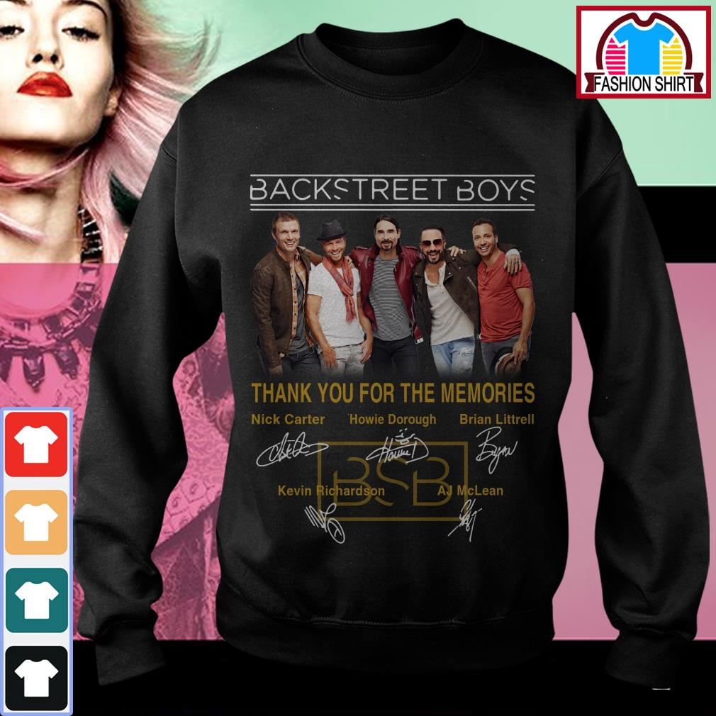 Backstreet Boys Christmas Sweater.Official Backstreet Boys Thank You For The Memories Signatures Shirt By Tshirtat Store