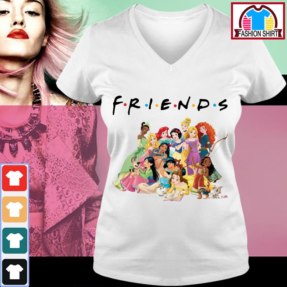Official Disney Princess Friends shirt by tshirtat store V-neck T-shirt