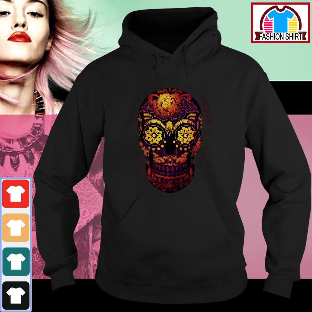 Official Floral sugar skull shirt by tshirtat store Hoodie