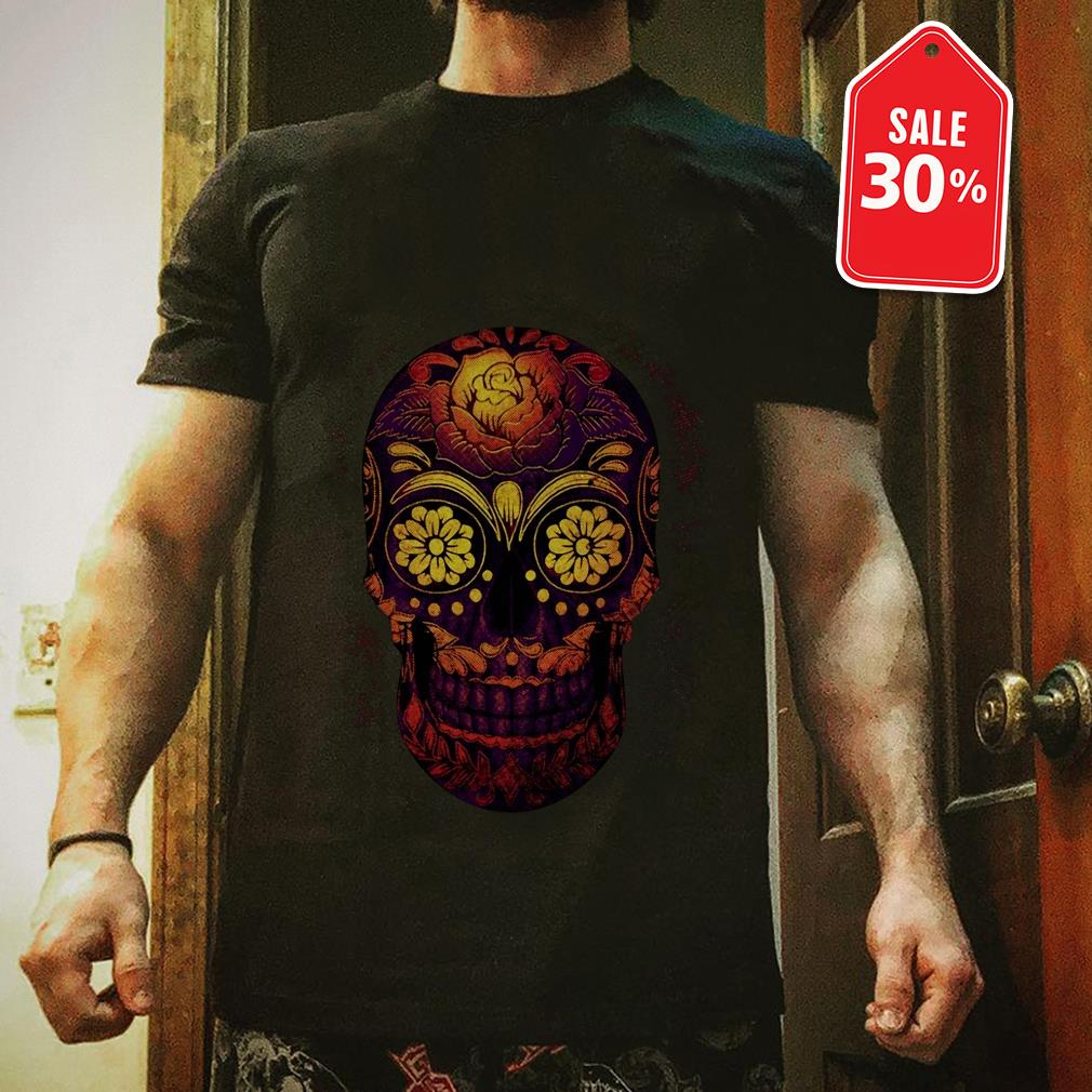 Official Floral sugar skull shirt by tshirtat store Shirt