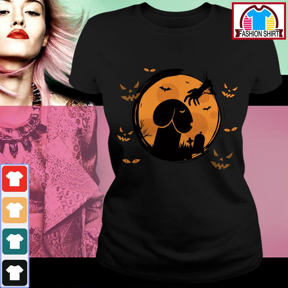 Official Halloween Dickhead Dog Noma Bar shirt by tshirtat store Ladies Tee