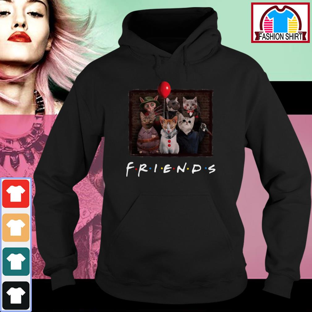 Official Halloween Friends TV Show cat in horror movie character shirt by tshirtat store Hoodie