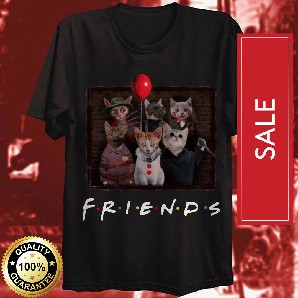 Official Halloween Friends TV Show cat in horror movie character shirt by tshirtat store Shirt