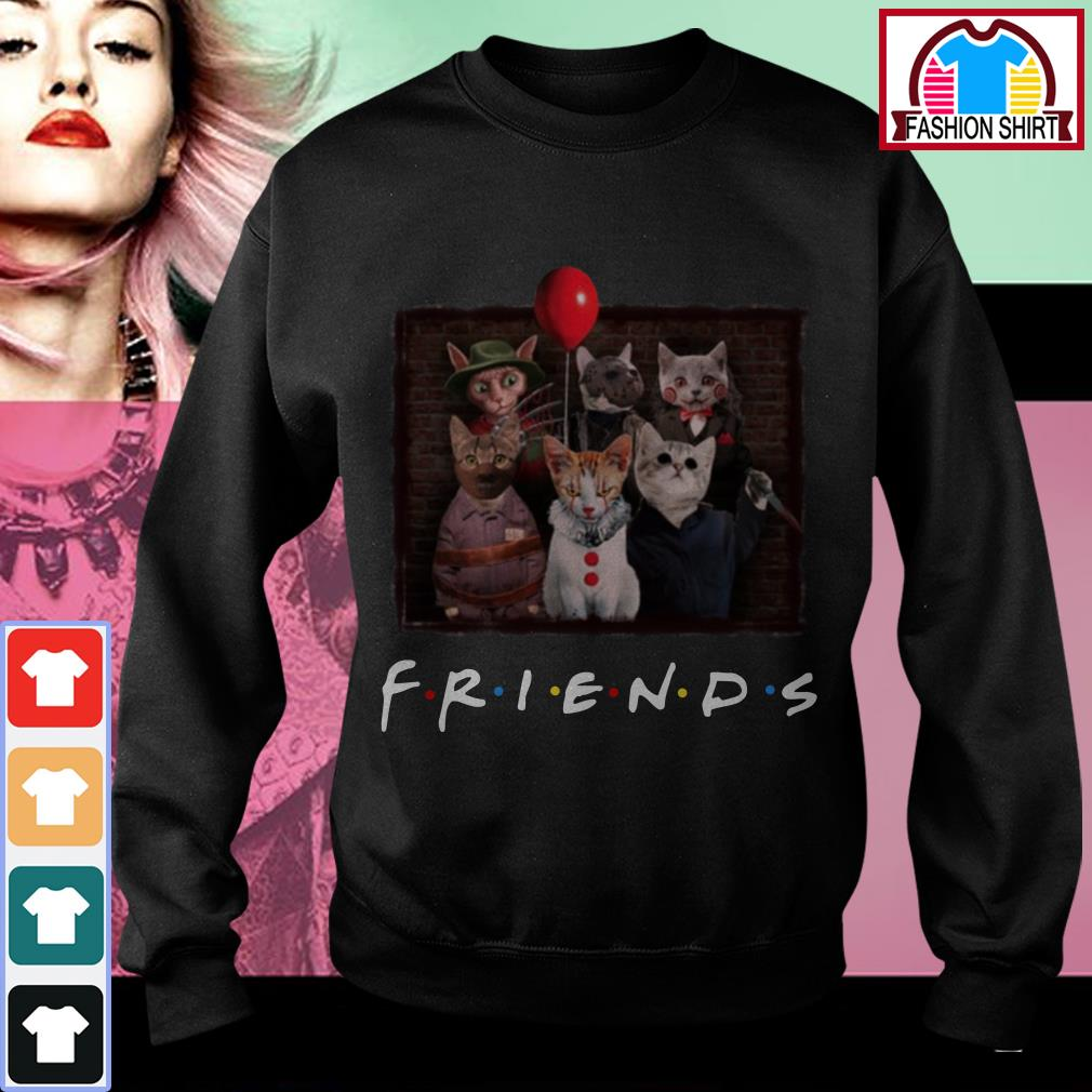 Official Halloween Friends TV Show cat in horror movie character shirt by tshirtat store Sweater