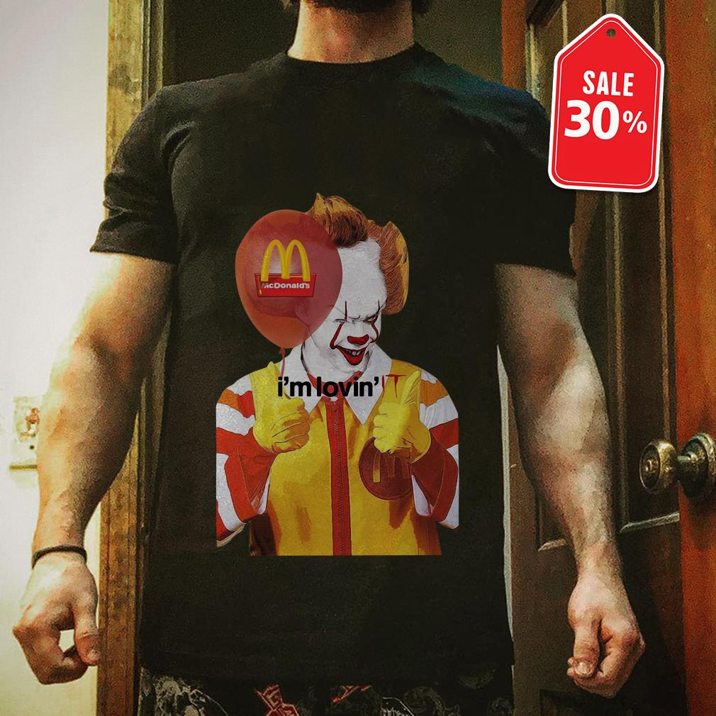 Official Mcdonald's I'm lovin' IT Pennywise shirt by tshirtat store Shirt