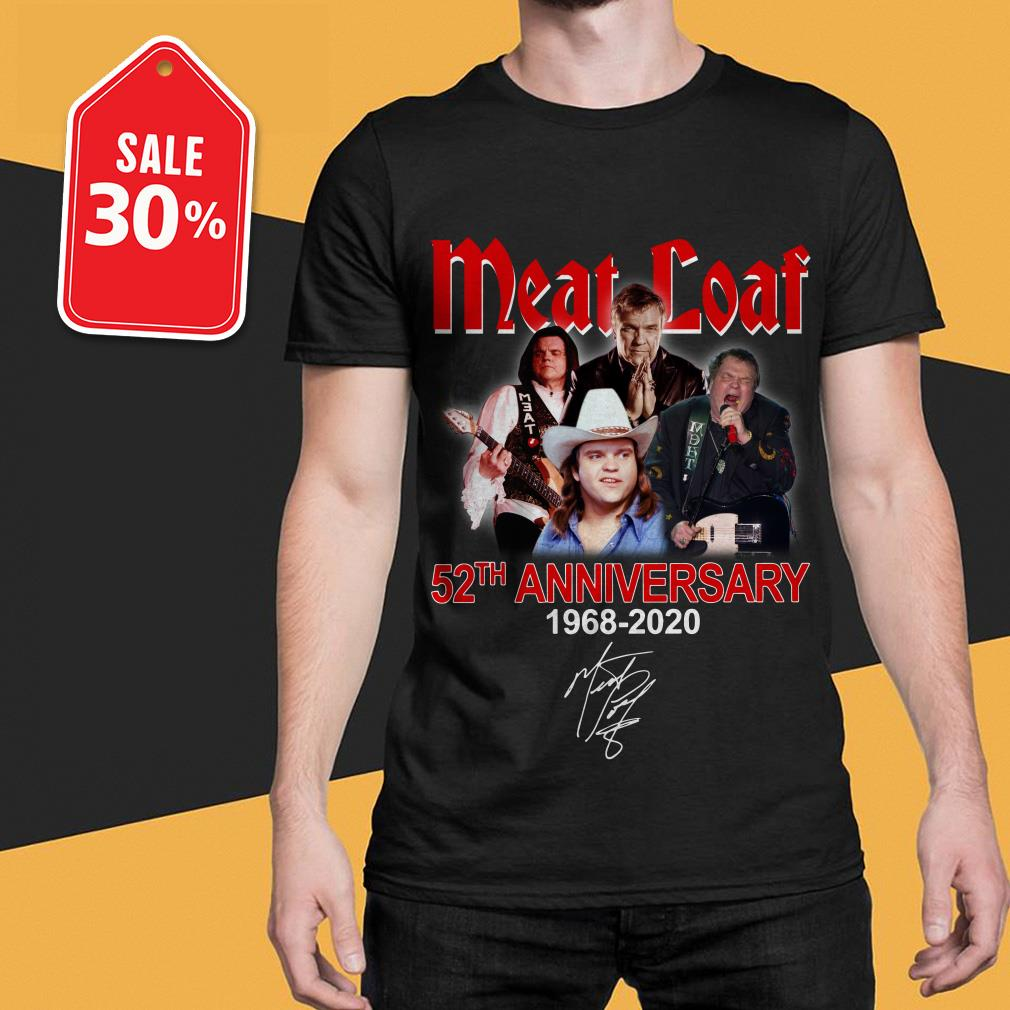 Official Meat Loaf 52th anniversary 1968-2020 signature shirt by tshirtat store Shirt