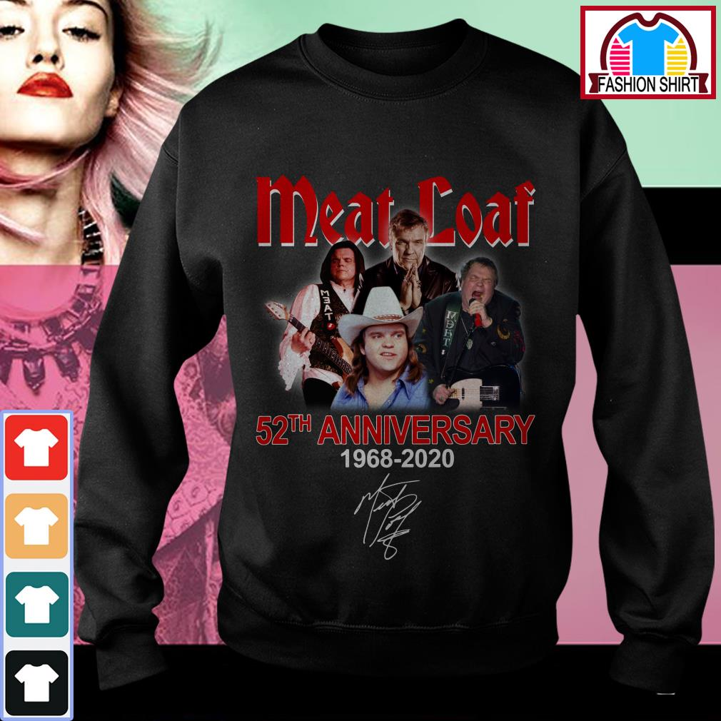 Official Meat Loaf 52th anniversary 1968-2020 signature shirt by tshirtat store Sweater