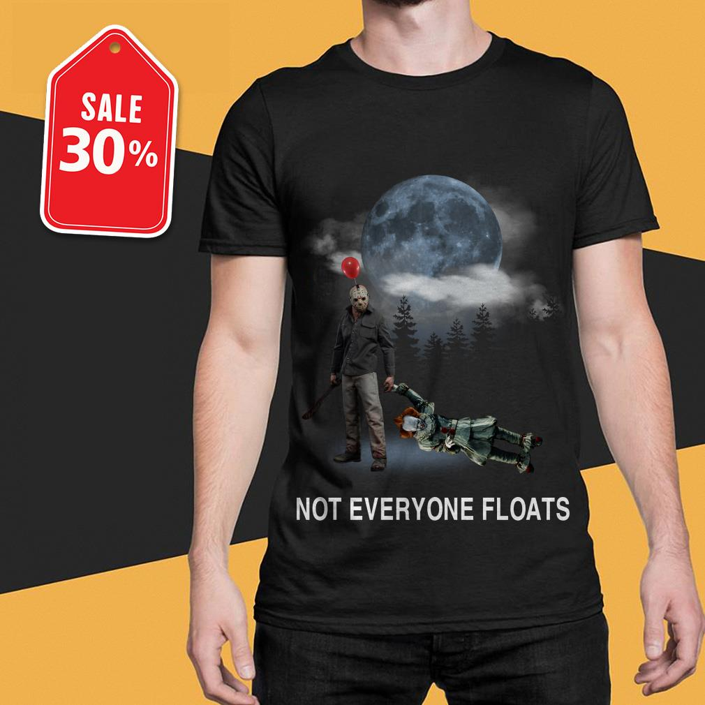 Official Michael Myers and Pennywise not everyone floats shirt by tshirtat store Shirt