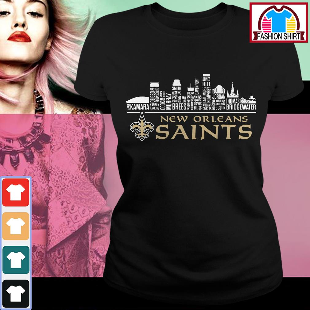 Official New Orleans Saints apple kamara shirt by tshirtat store Ladies Tee