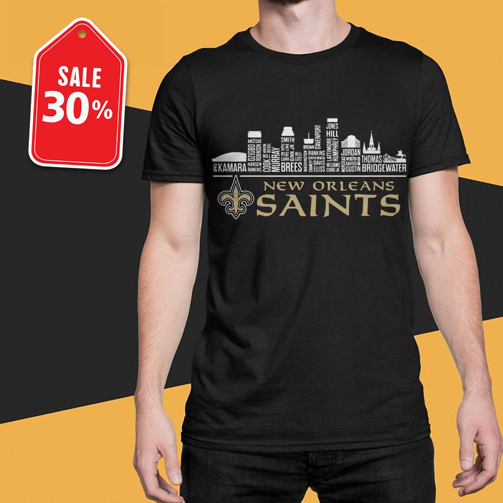Official New Orleans Saints apple kamara shirt by tshirtat store Shirt