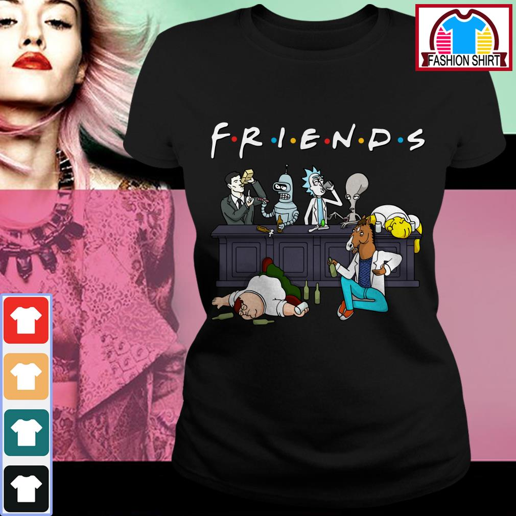 Official Nice Cartoon characters on Netflix Friends shirt by tshirtat store Ladies Tee