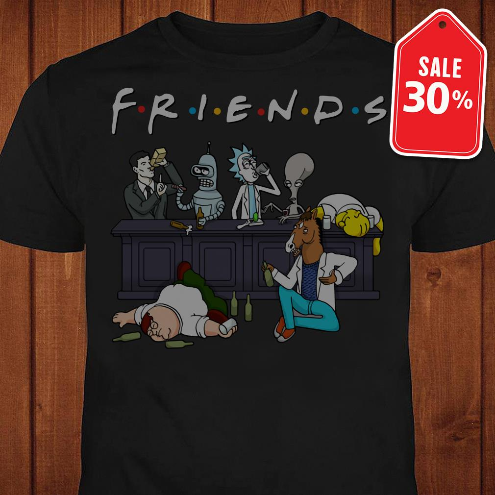 Official Nice Cartoon characters on Netflix Friends shirt by tshirtat store Shirt