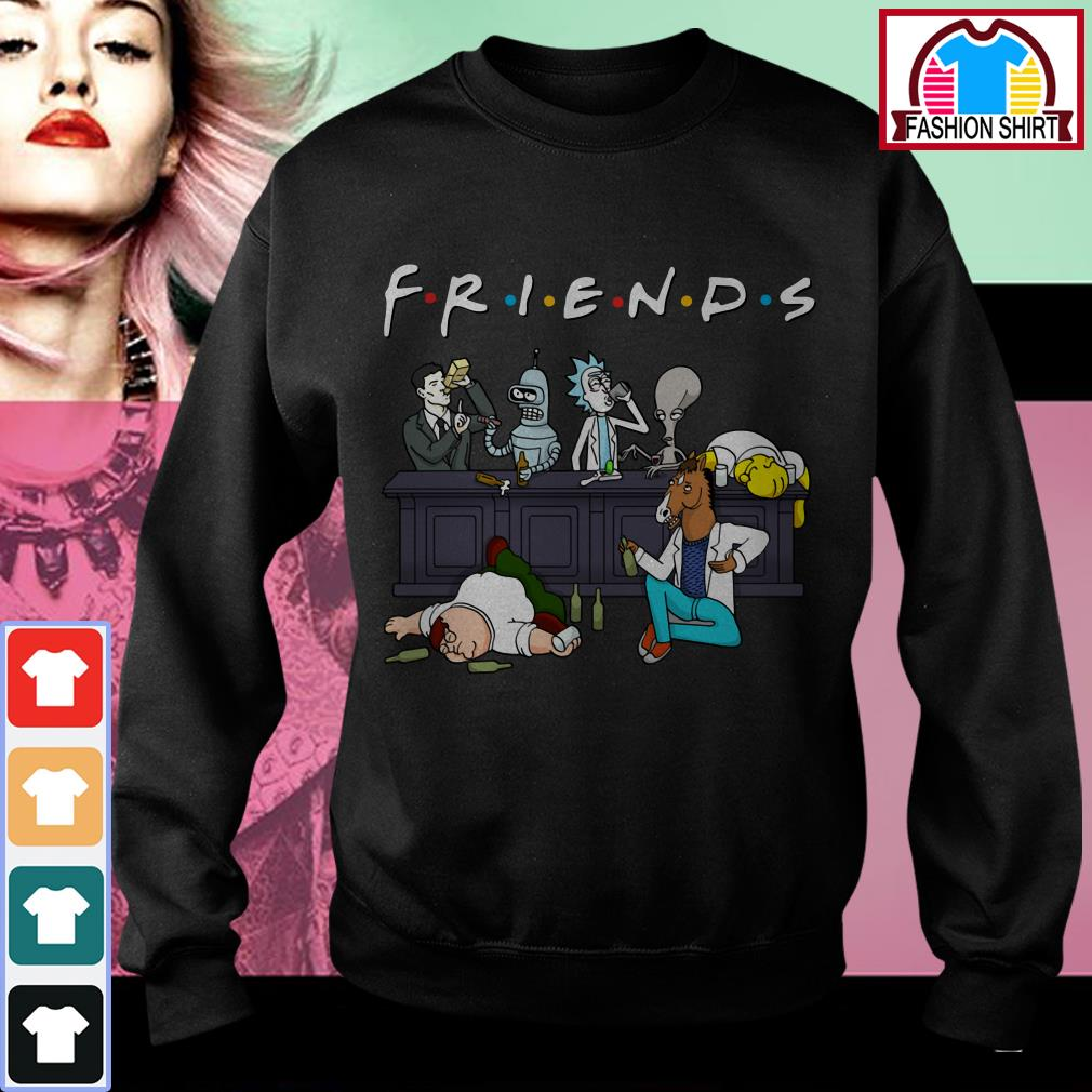 Official Nice Cartoon characters on Netflix Friends shirt by tshirtat store Sweater