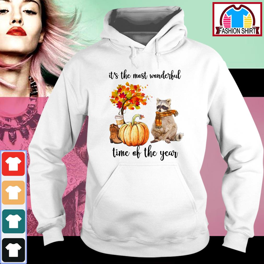 Official Raccoon it's the most wonderful time of the year shirt by tshirtat store Hoodie