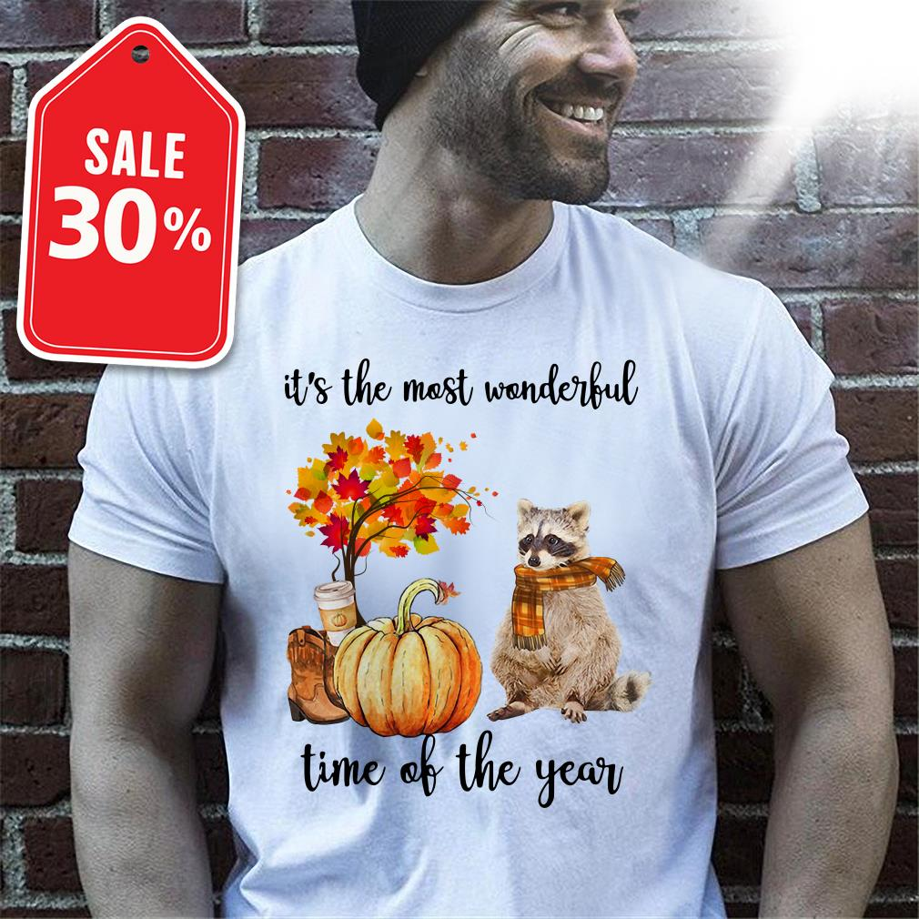 Official Raccoon it's the most wonderful time of the year shirt by tshirtat store Shirt