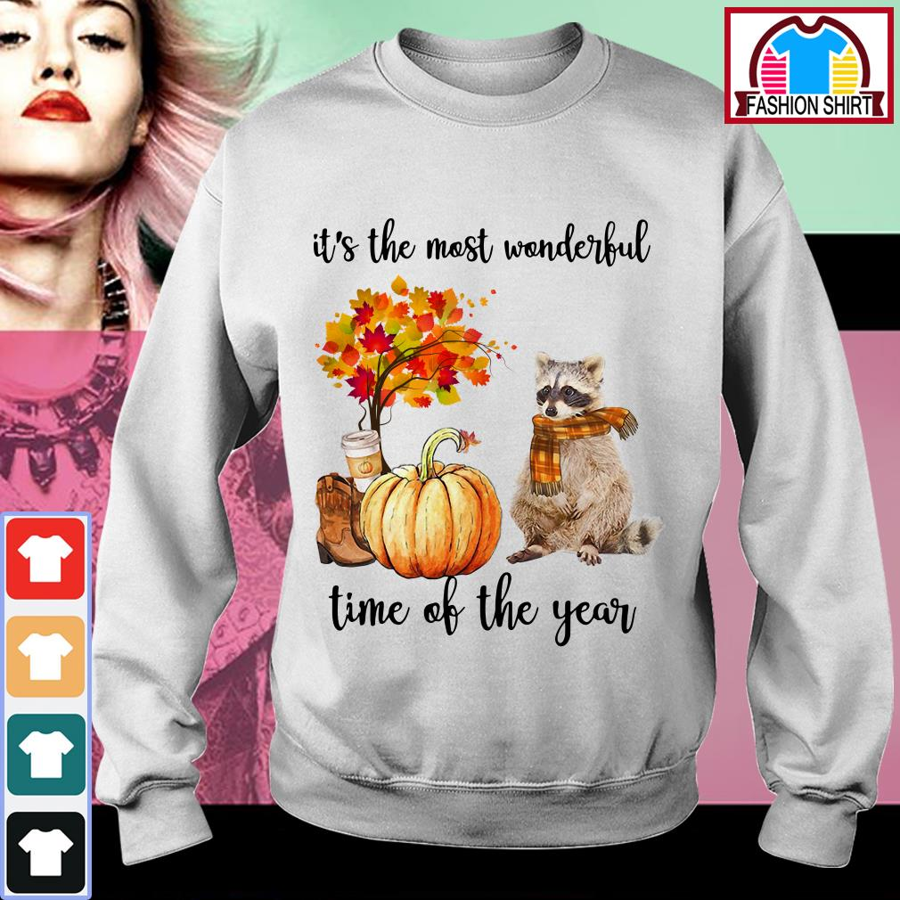 Official Raccoon it's the most wonderful time of the year shirt by tshirtat store Sweater