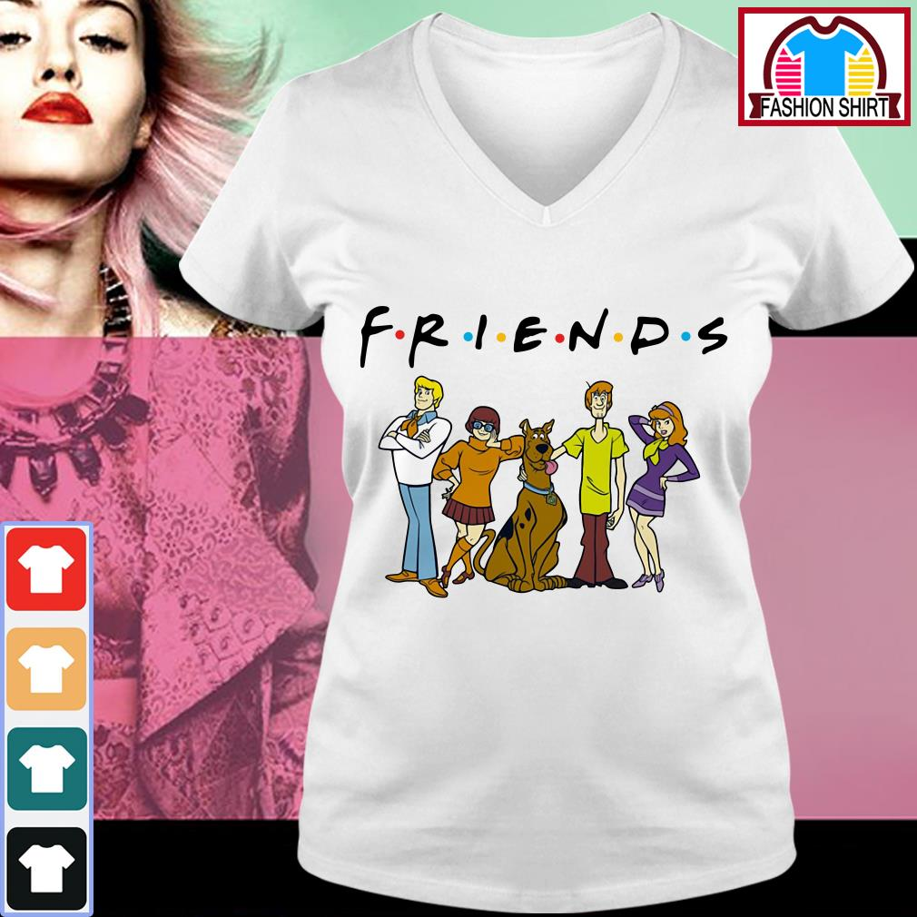 Official Scooby Doo friends shirt by tshirtat store V-neck T-shirt
