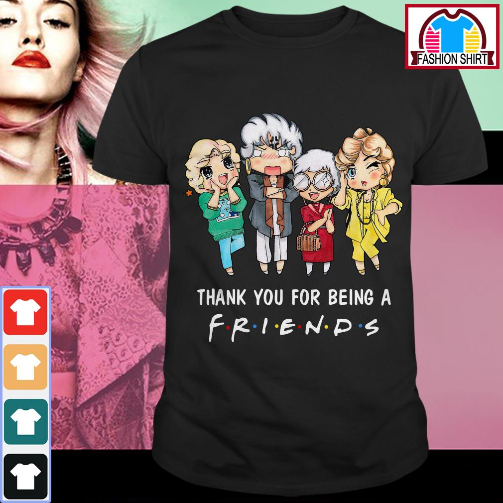 Official The Golden Girls thank you for being a friend shirt by tshirtat store Guys Shirt