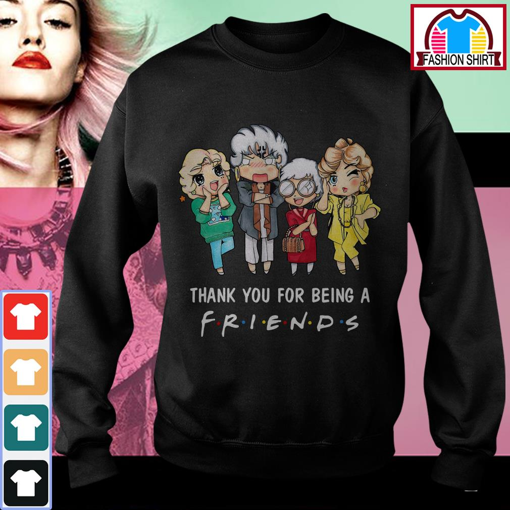 Official The Golden Girls thank you for being a friend shirt by tshirtat store Sweater