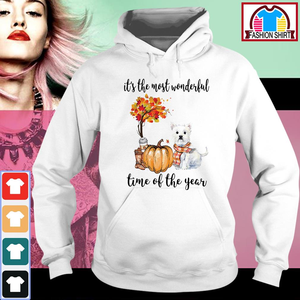 Official Westie it's the most wonderful time of the year shirt by tshirtat store Hoodie