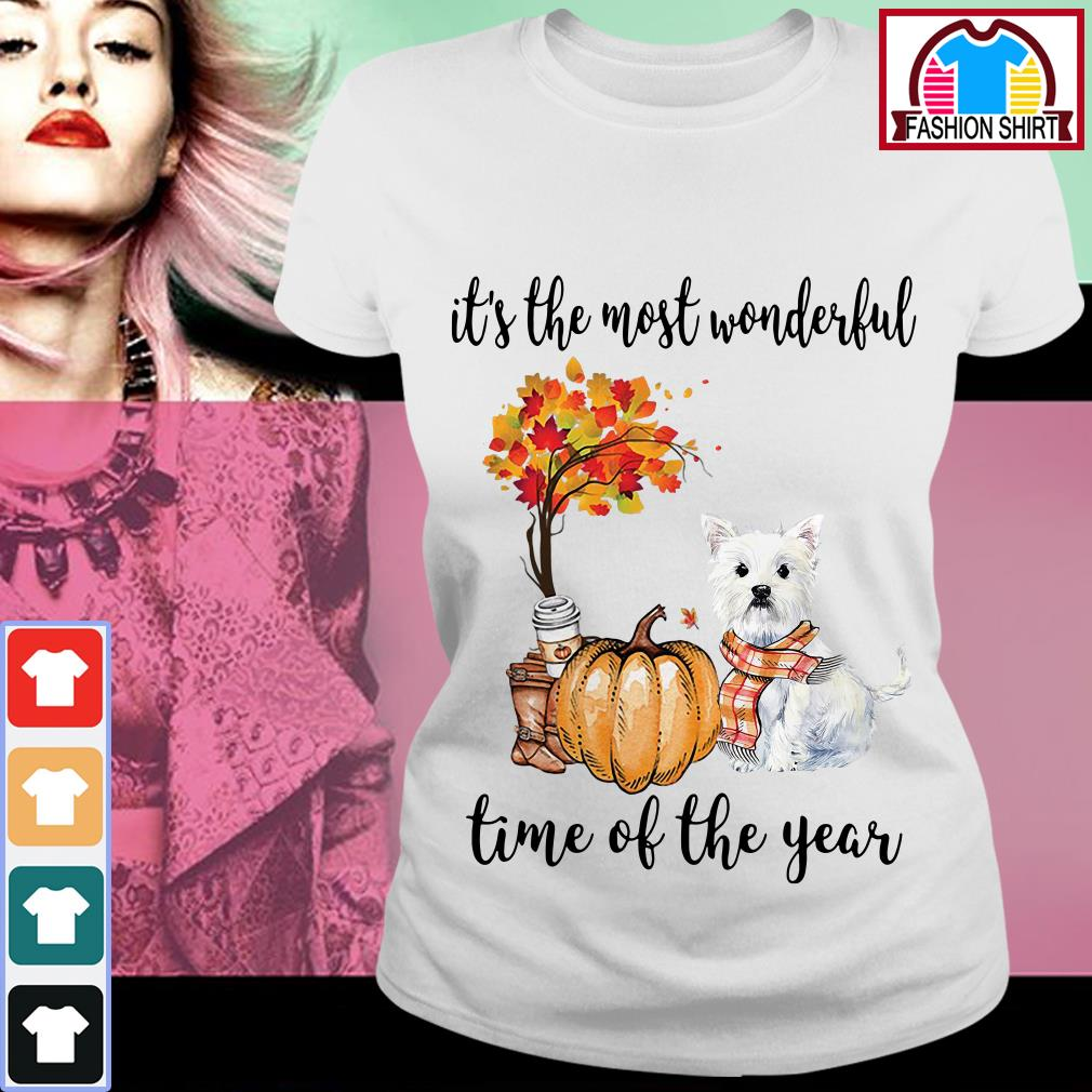 Official Westie it's the most wonderful time of the year shirt by tshirtat store Ladies Tee