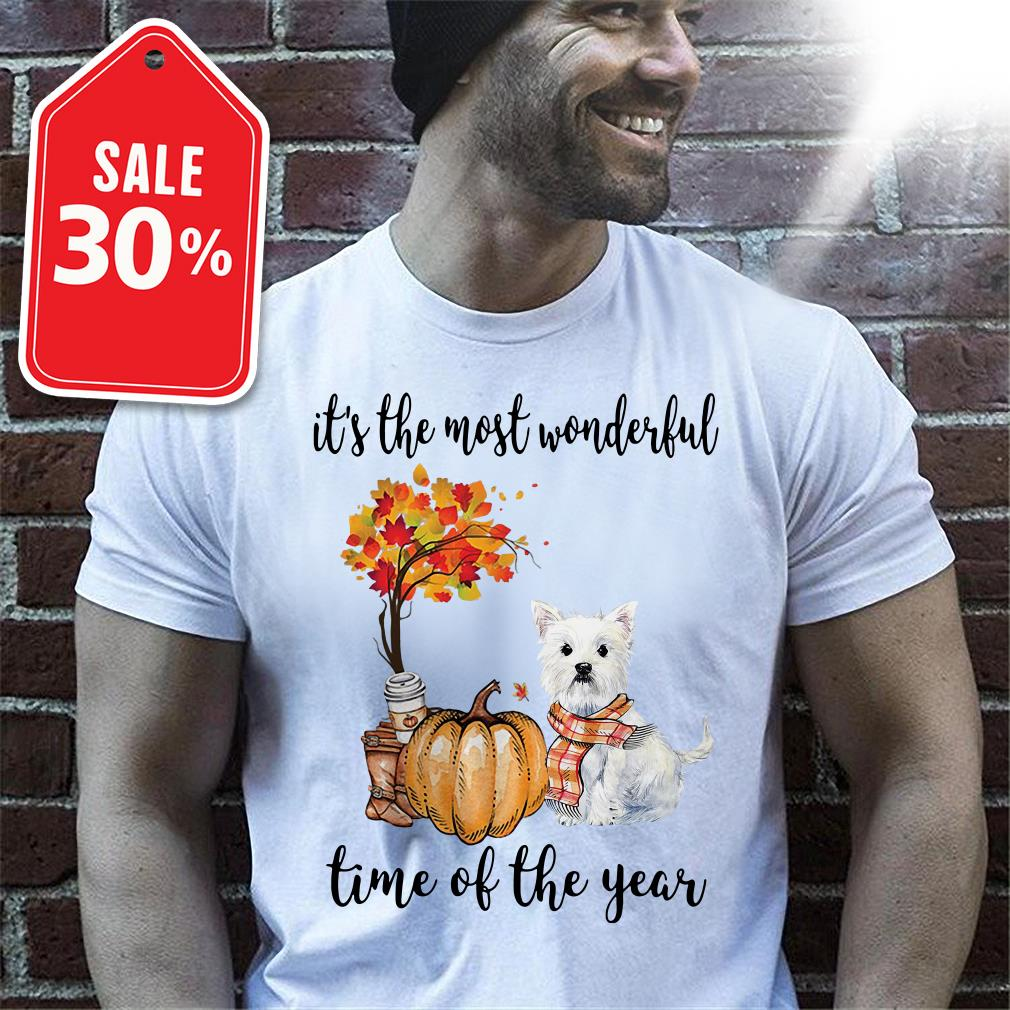 Official Westie it's the most wonderful time of the year shirt by tshirtat store Shirt