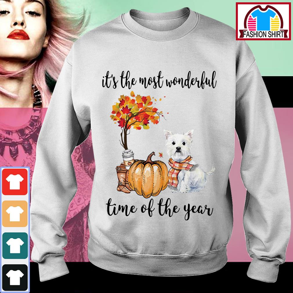 Official Westie it's the most wonderful time of the year shirt by tshirtat store Sweater