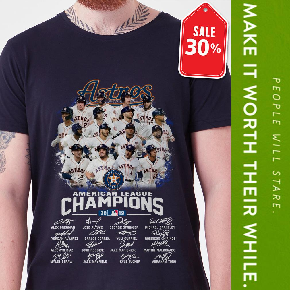 New Official Houston Astros American League Champions 2019 signatures shirt by tshirtat store Shirt