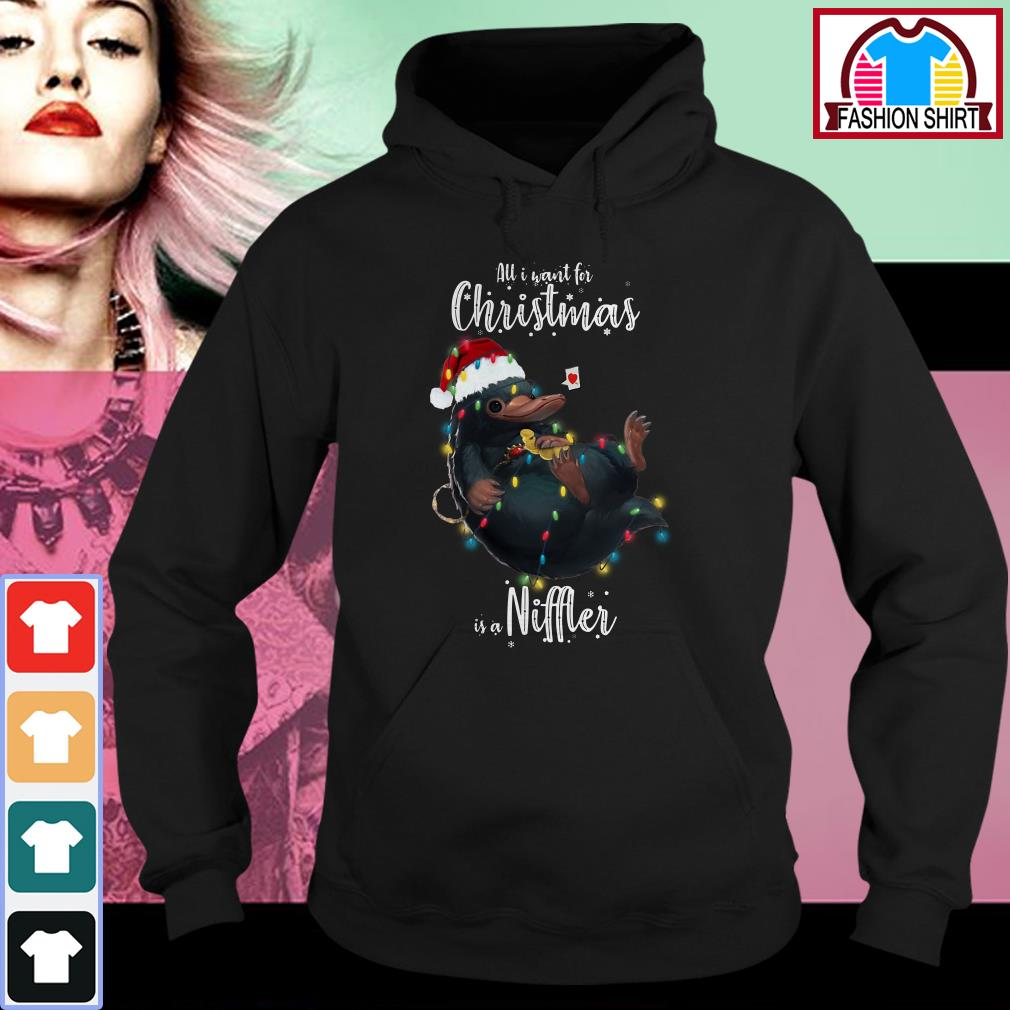 Official All I want for Christmas is a Niffler shirt by tshirtat store Hoodie