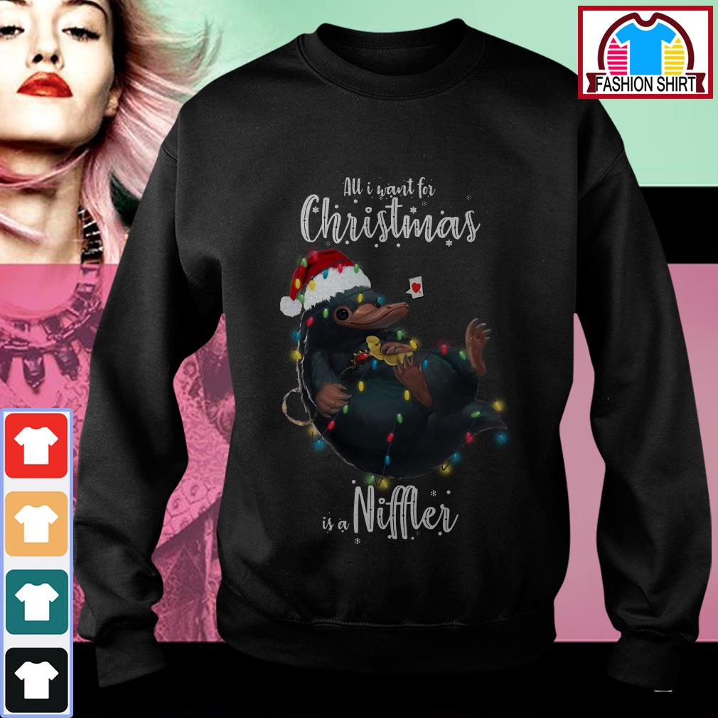 Official All I want for Christmas is a Niffler shirt by tshirtat store Sweater