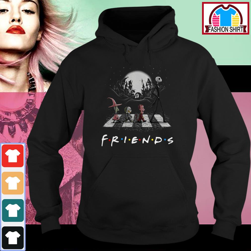 Official Friends The Nightmare Before Christmas Abbey Road shirt by tshirtat store Hoodie