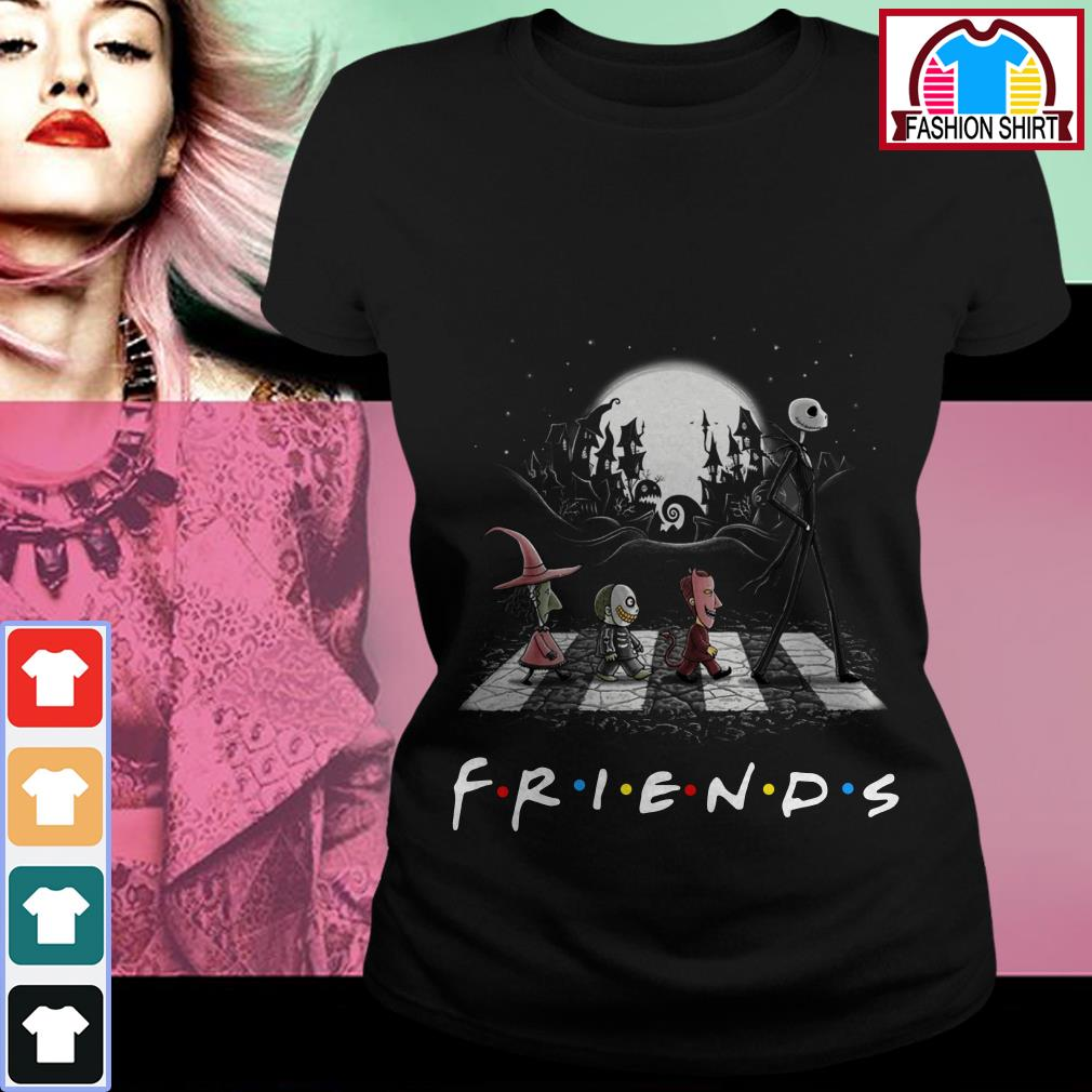 Official Friends The Nightmare Before Christmas Abbey Road shirt by tshirtat store Ladies Tee