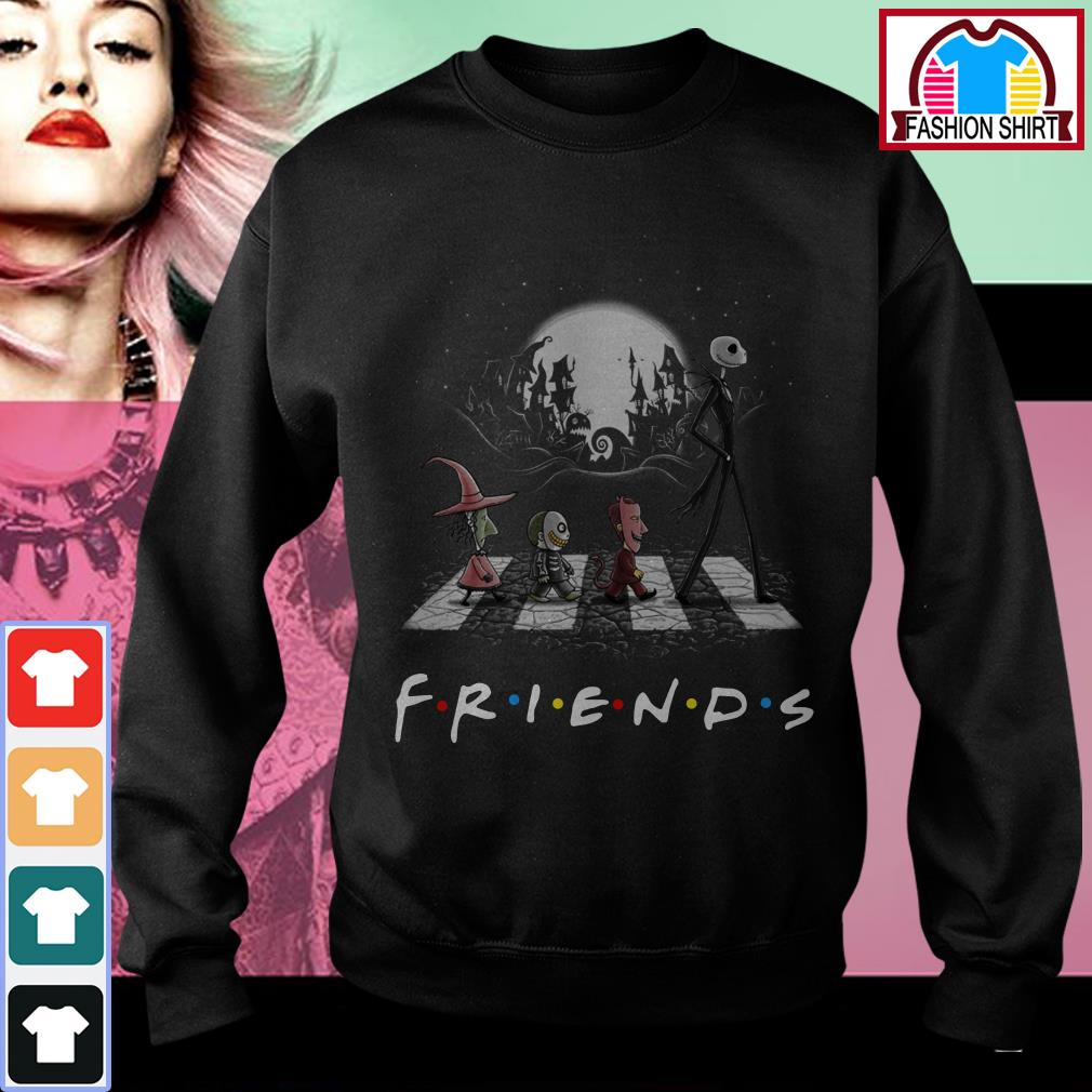 Official Friends The Nightmare Before Christmas Abbey Road shirt by tshirtat store Sweater
