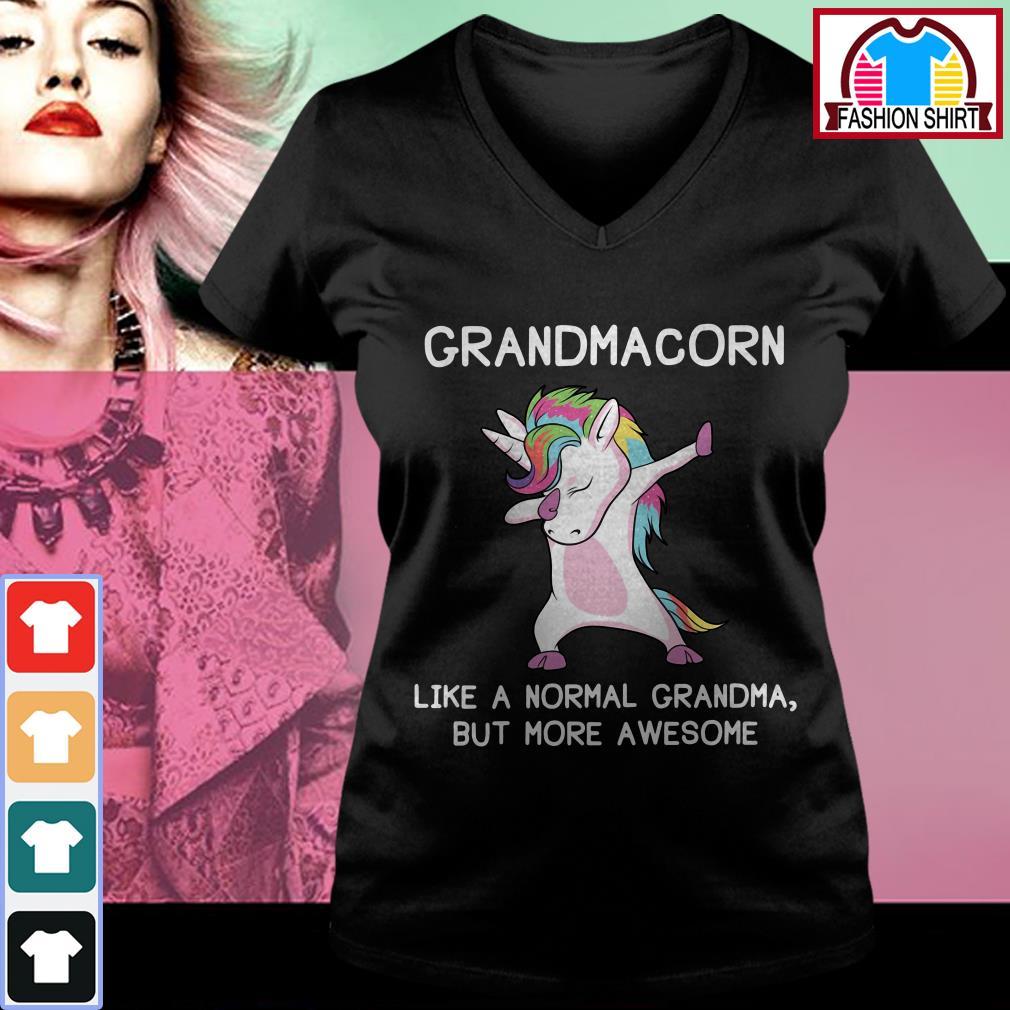 Official Grandmacorn like a normal grandma but more awesome shirt by tshirtat store V-neck T-shirt