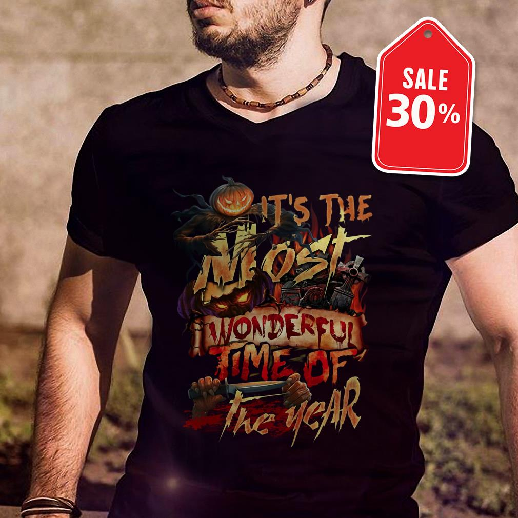 Official Halloween it's the most wonderful time of the year shirt by tshirtat store Shirt