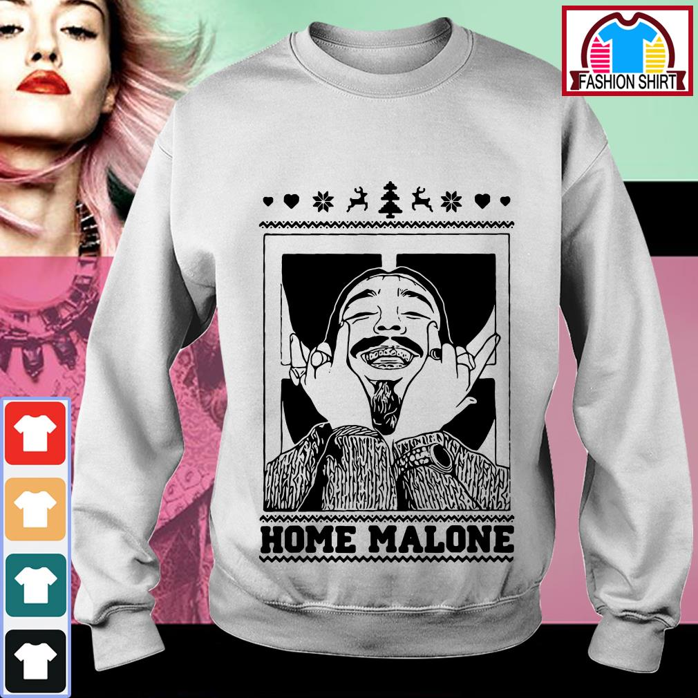 Official Post Malone Home Malone Ugly Christmas Shirt By