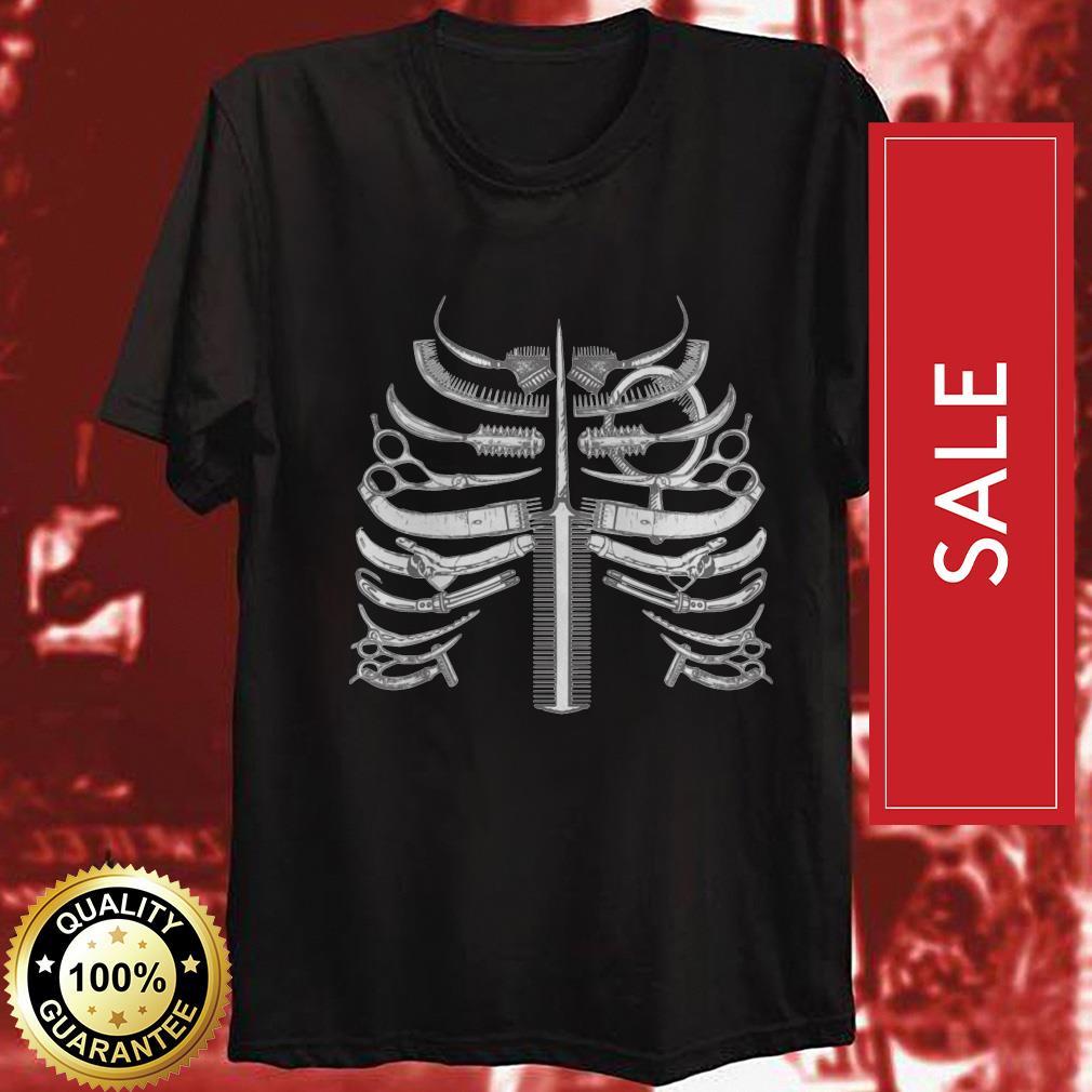Official Skeleton ribs bone hairstyle shirt by tshirtat store Shirt