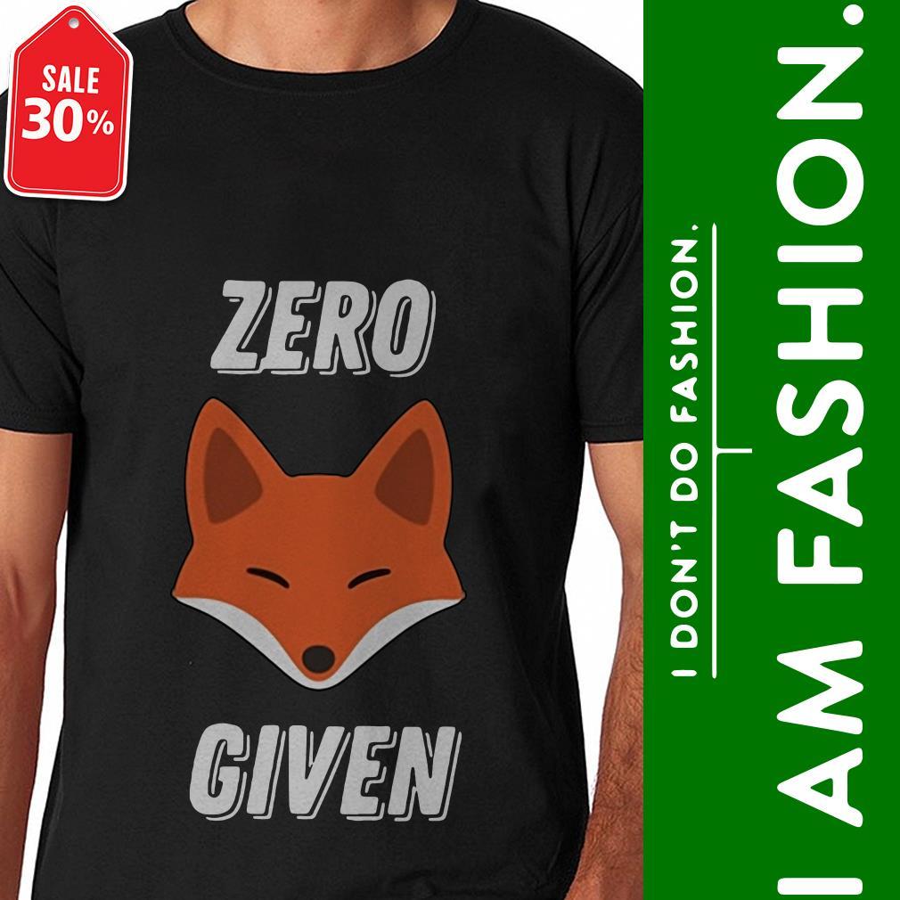Official Zero fox given shirt by tshirtat store Shirt