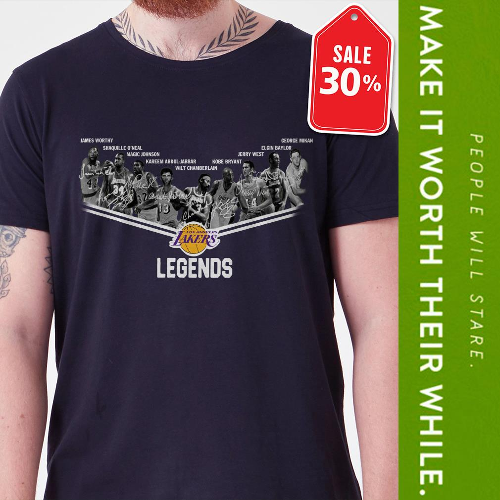 New Official Los Angeles Lakers legends signatures shirt by tshirtat store Shirt