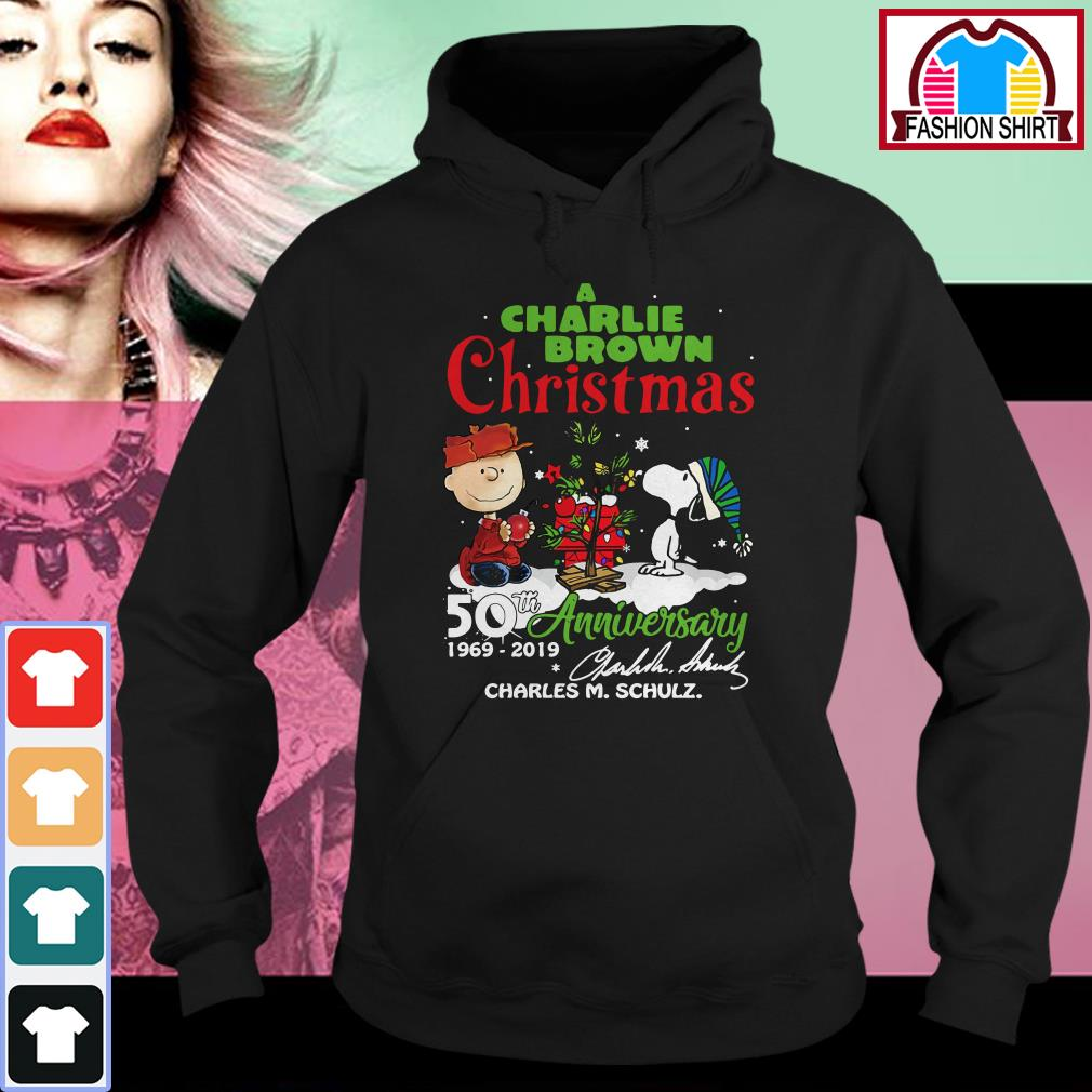 Official A Charlie Brown Christmas 50th Anniversary 1969-2019 signature shirt by tshirtat store Hoodie