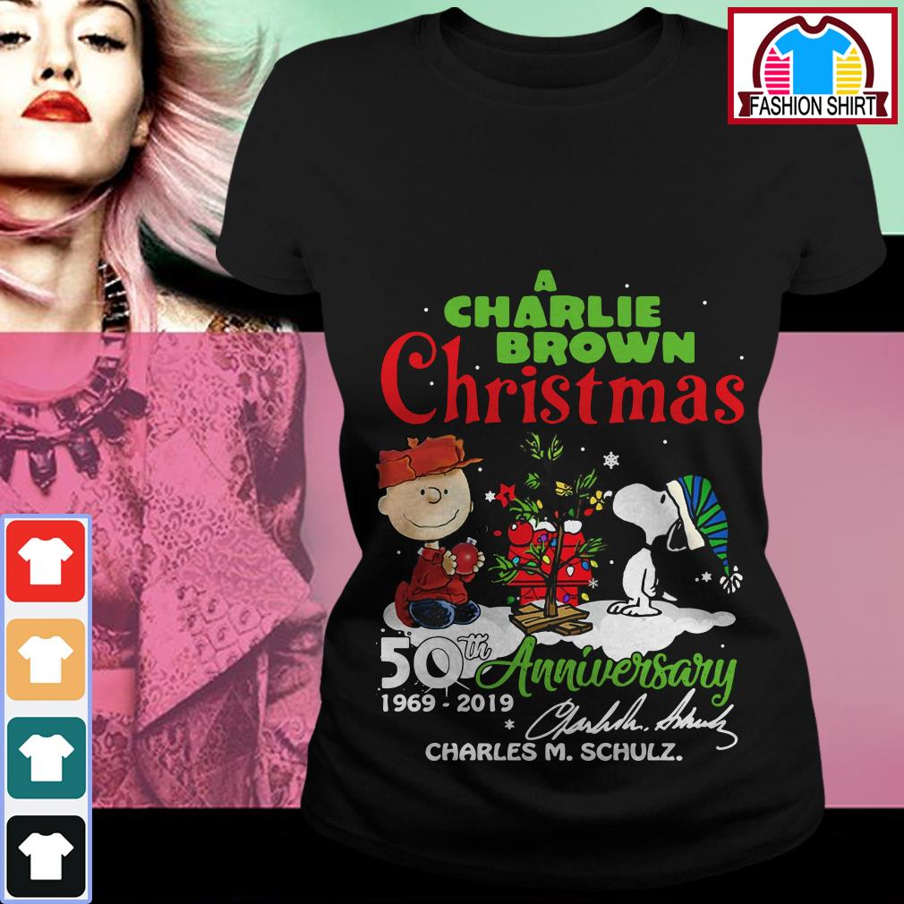 Official A Charlie Brown Christmas 50th Anniversary 1969-2019 signature shirt by tshirtat store Ladies Tee
