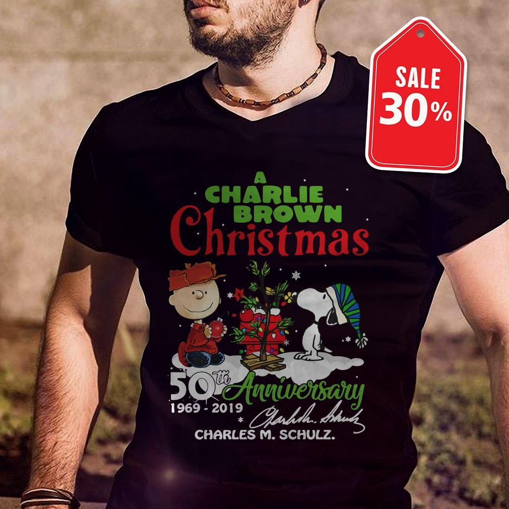 Official A Charlie Brown Christmas 50th Anniversary 1969-2019 signature shirt by tshirtat store Guys Shirt