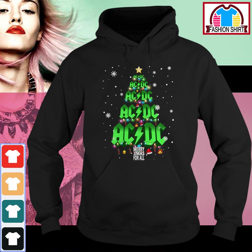 Official ACDC Merry Xmas for all Christmas tree shirt by tshirtat store Hoodie