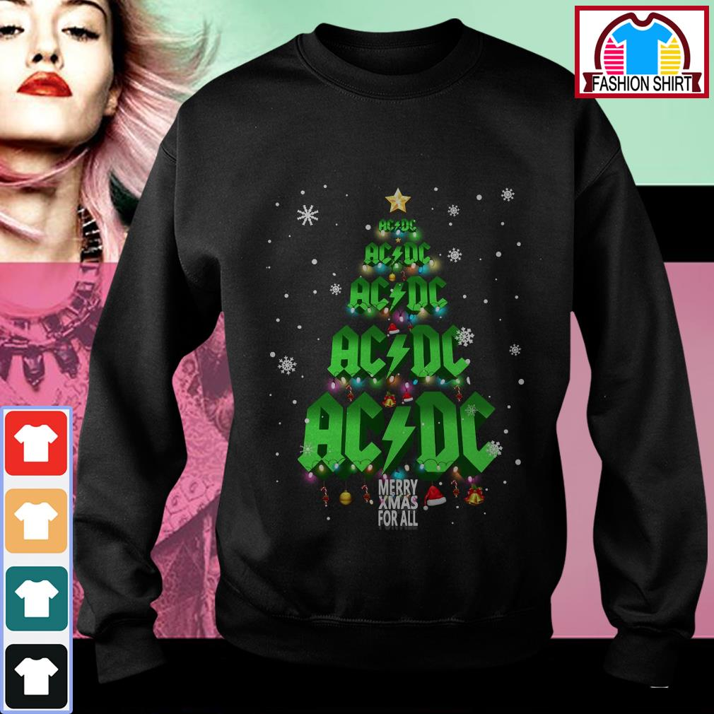 Official ACDC Merry Xmas for all Christmas tree shirt by tshirtat store Sweater