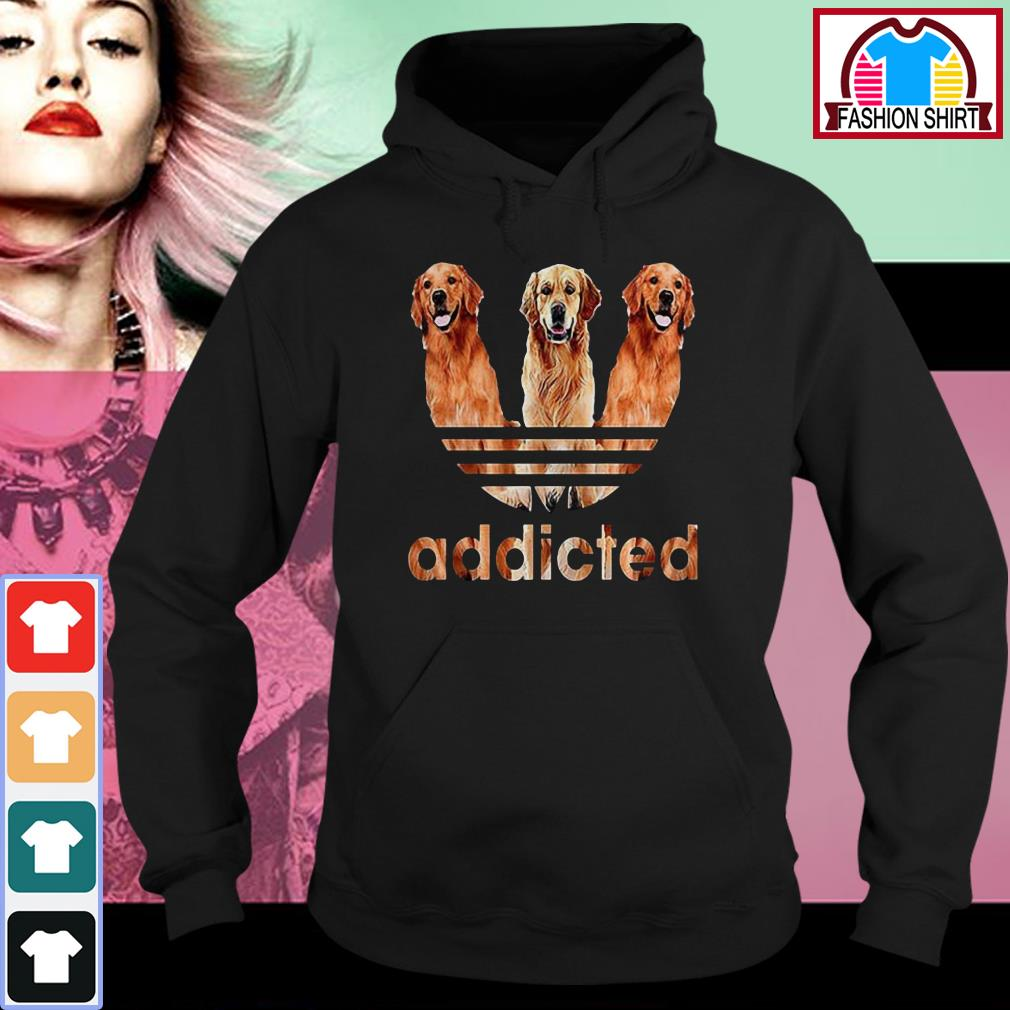 Official Adidas Golden Retriever addicted shirt by tshirtat store Hoodie
