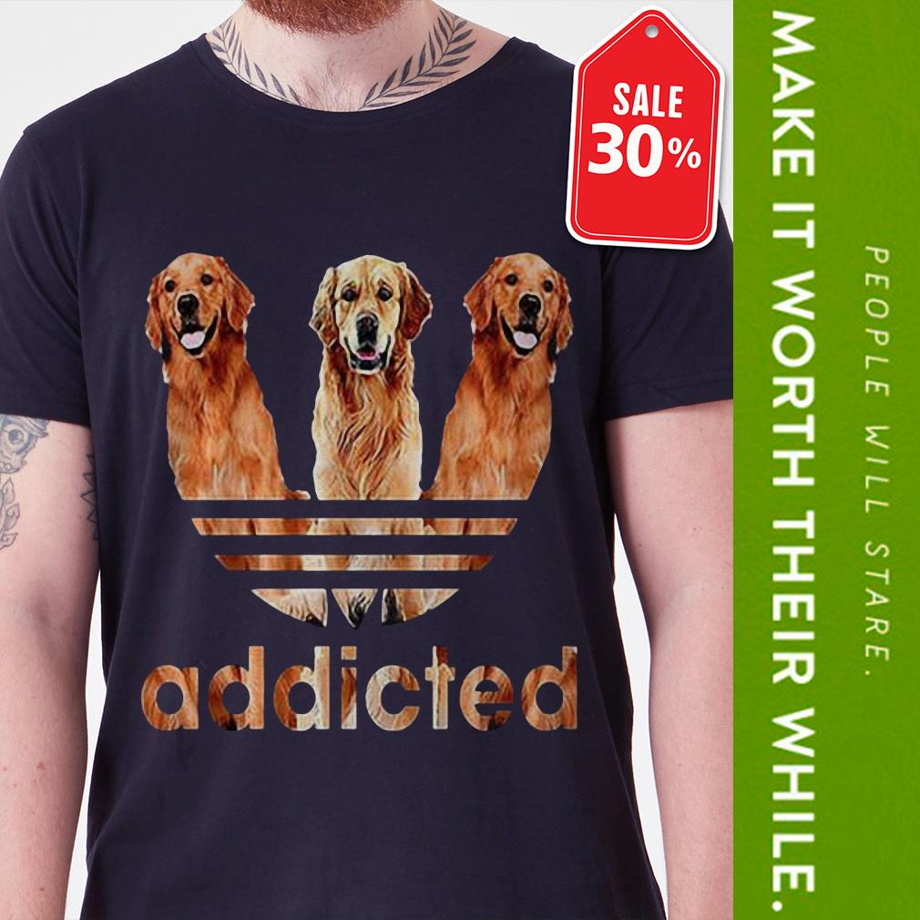 Official Adidas Golden Retriever addicted shirt by tshirtat store Shirt