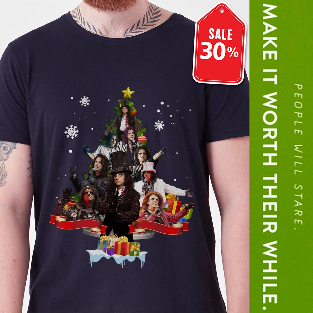 Official Alice Cooper Christmas tree shirt by tshirtat store Guys Shirt