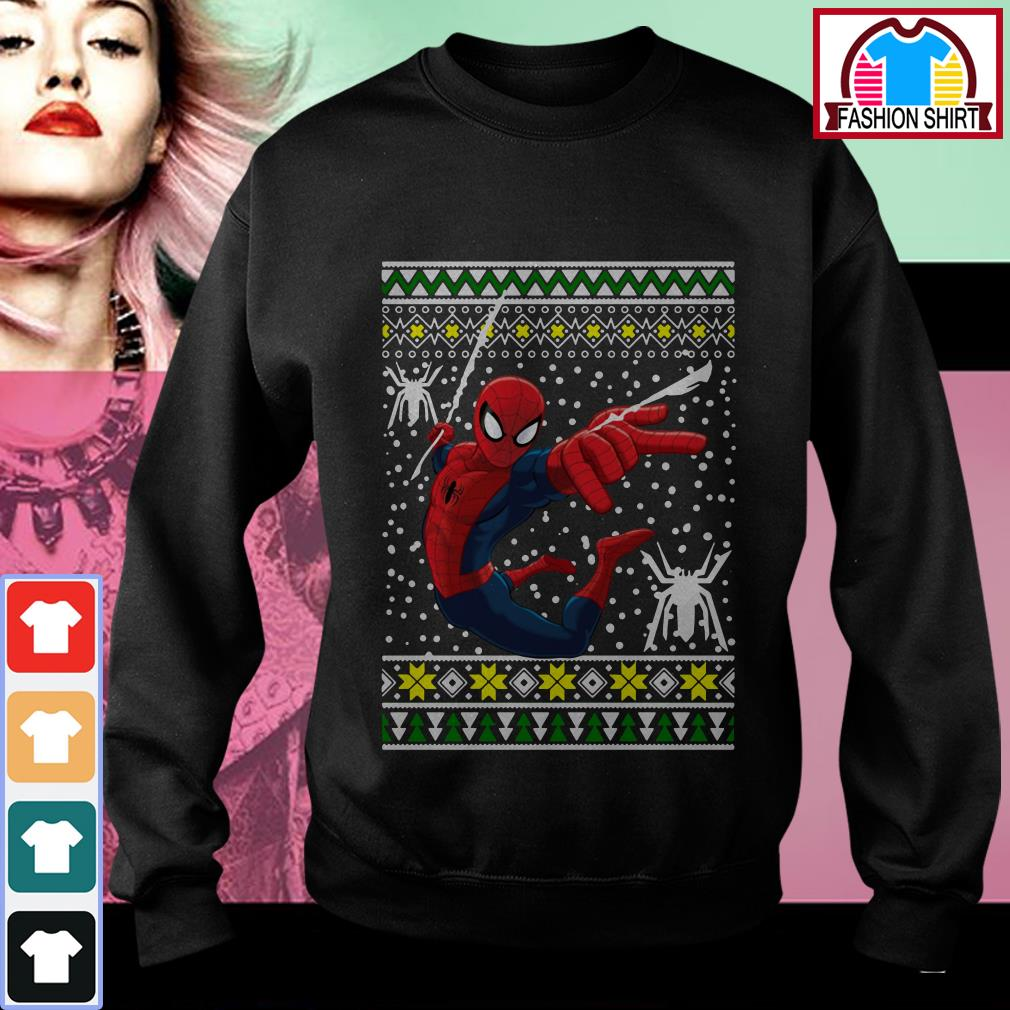 Official Amazing Spiderman ugly Christmas shirt by tshirtat store Sweater